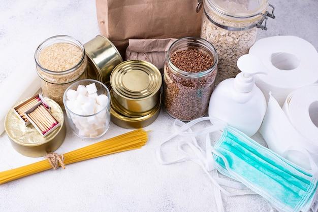Set producten voor de pandemie van het coronavirus