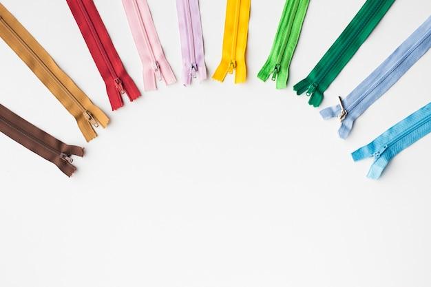 Set rits voor naaien en handwerk frame met kopie ruimte