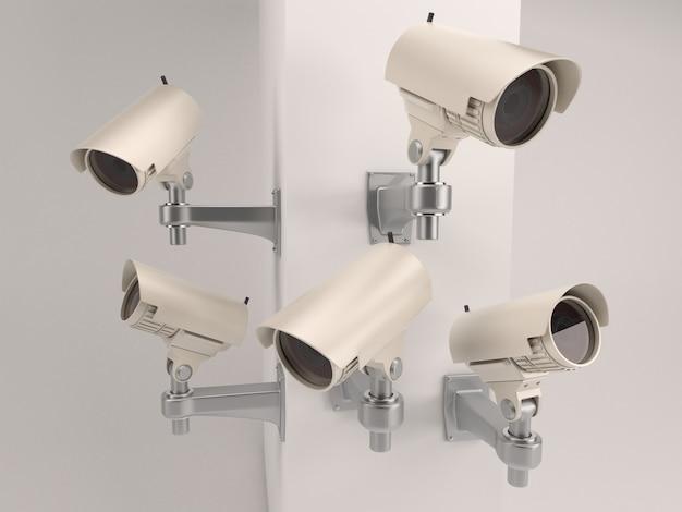 Set van beveiligingscamera's