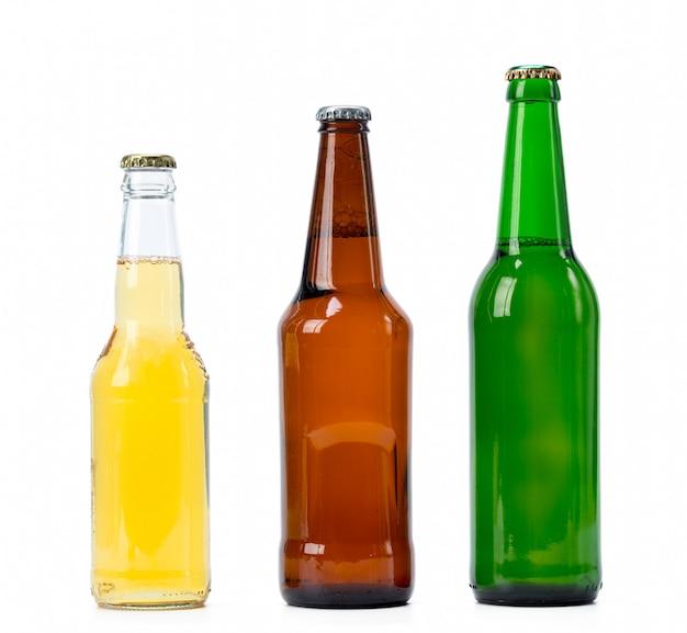 Set van bierflessen geïsoleerd