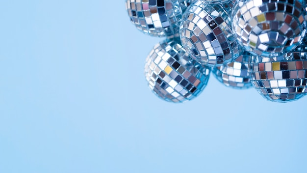 Set van decoratie ballen met kopie ruimte