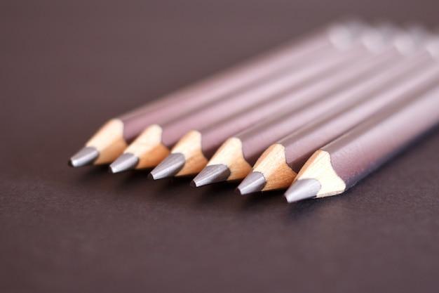 Set van driehoekige potloden