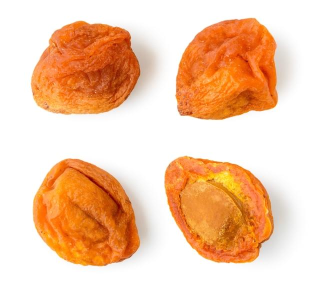 Set van gedroogde abrikozen met steen