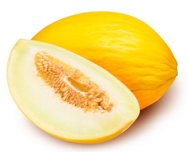 Set van gele meloen geïsoleerd