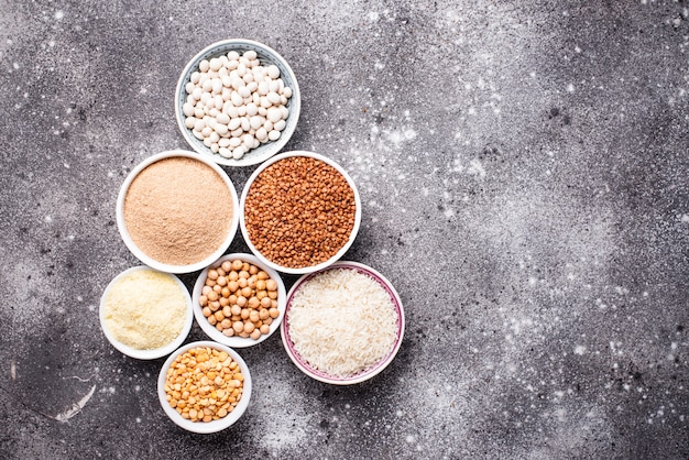 Set van glutenvrije producten