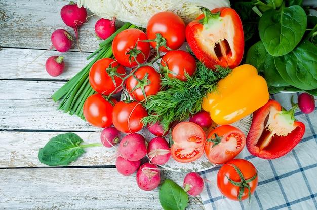 Set van groenten voor salade