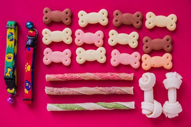 Set van hondensnoepjes en halsbanden