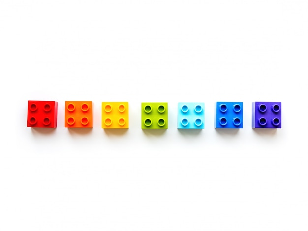 Set van kleurrijke constructor blokken