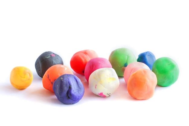 Set van kleurrijke plasticine voor kid