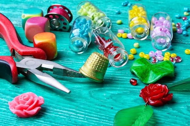 Set van kralen voor decoraties