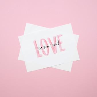Set van liefde concept kaarten