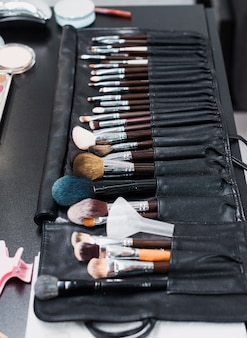 Set van make-up borstels