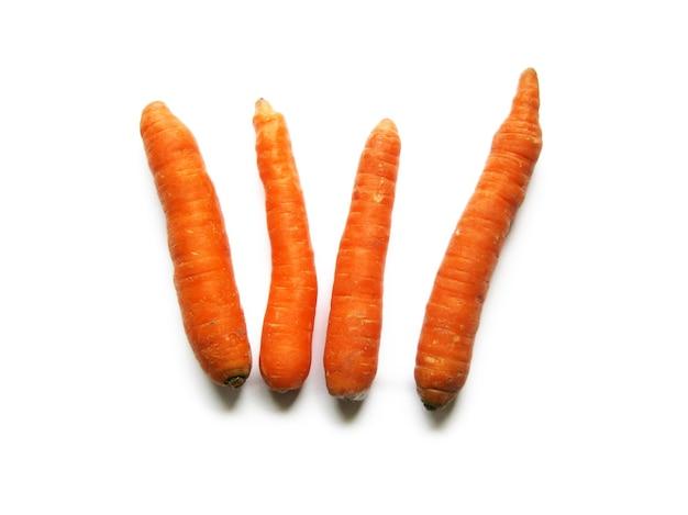 Set van oranje wortelen