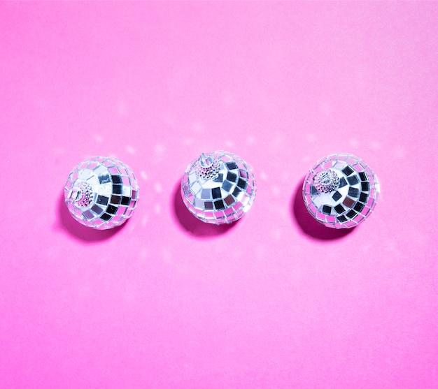 Set van ornament zilveren ballen