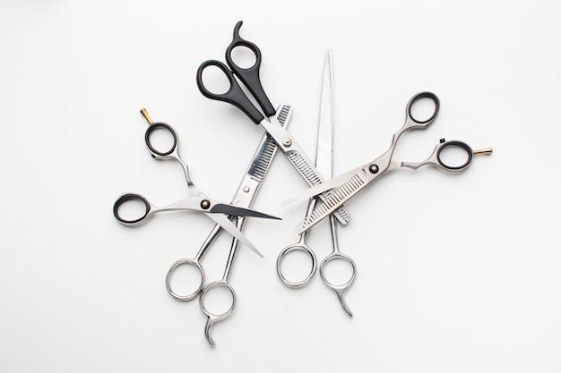Set van professionele haarscharen