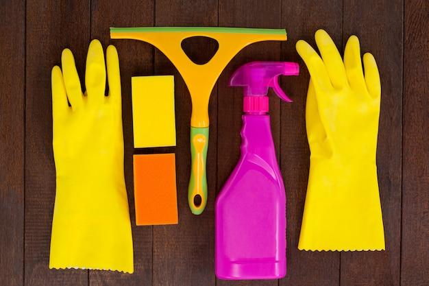Set van reinigingsapparatuur