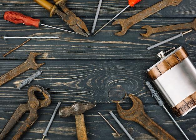 Set van reparatie-apparatuur en kolf