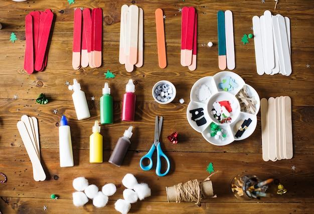 Set van stationair voor kerstmis diy-project