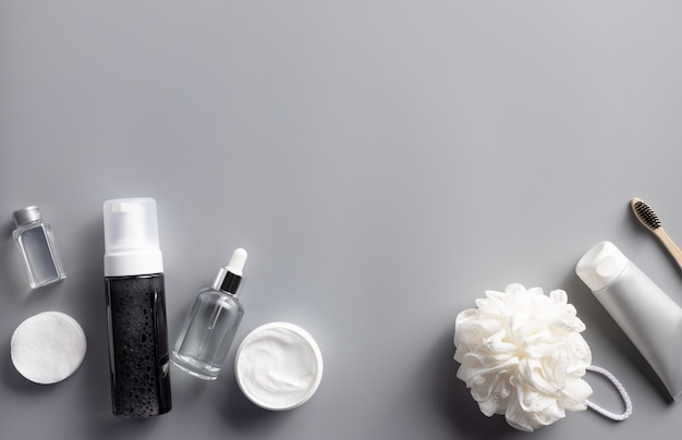 Set van verschillende cosmetische producten voor mannen