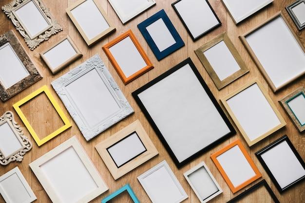 Set van verschillende lege frames