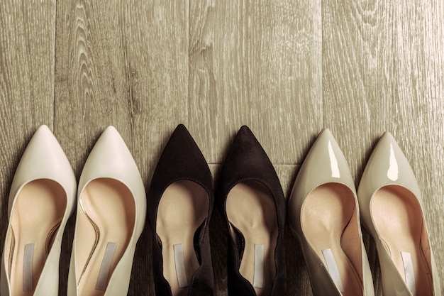 Set van verschillende schoenen