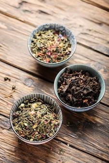 Set van verschillende soorten thee