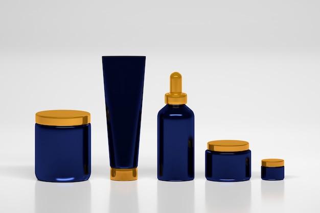 Set verpakkingen voor huidverzorgingsproducten.