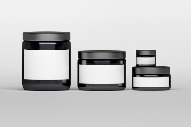 Set verzorgingscrème producten pakketten.
