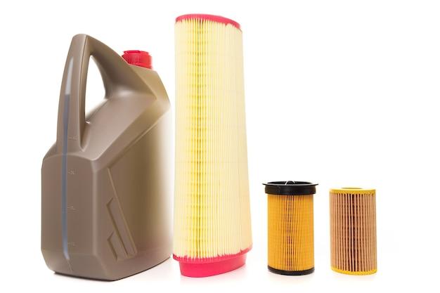 Set voor tijdig onderhoud van de auto, filter en motorolie