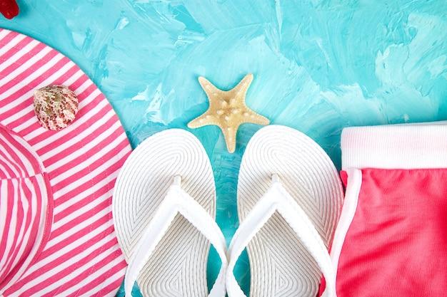 Set vrouw dingen accessoires zomer seizoen.