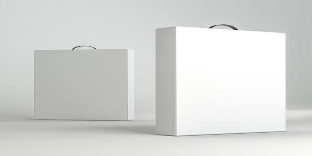 Set witte kartonnen doos met handvat