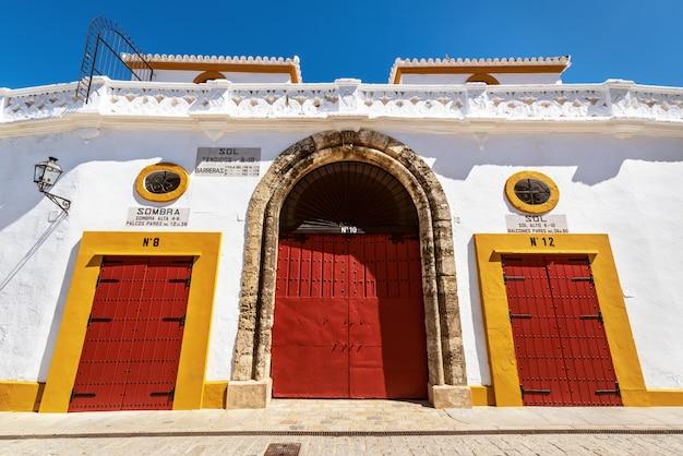 Sevilla real maestranza-arena plaza toros de sevilla in andalusia spanje.