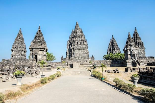 Sewu boeddhistische tempel, prambanan-tempel, yogyakarta, java, indonesië