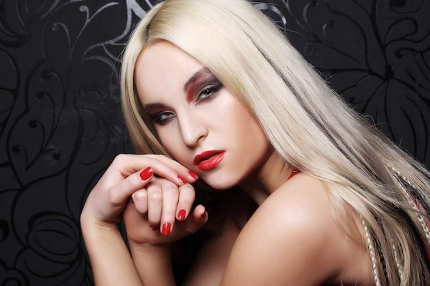Sexy blond meisje