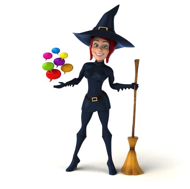 Sexy heks - 3d illustratie