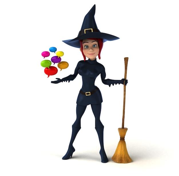 Sexy heks - 3d karakter