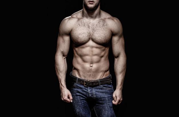 Sexy man, naakt lichaam, naakt man