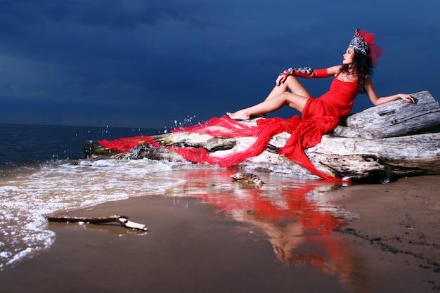 Sexy vrouw op het strand