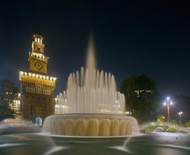 Sforzesco kasteel in milaan, italië