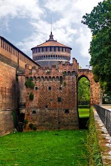 Sforzesco-kasteel, milaan, italië
