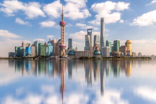 Shanghai lujiazui architecture landscape skyline