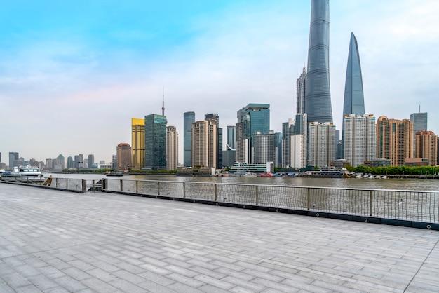 Shanghai lujiazui urban architectural skyline