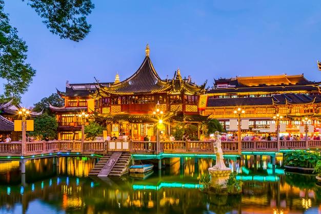 Shanghai regio nacht restaurants retail traditionele
