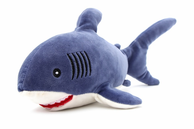 Shark pop geïsoleerd op een witte achtergrond