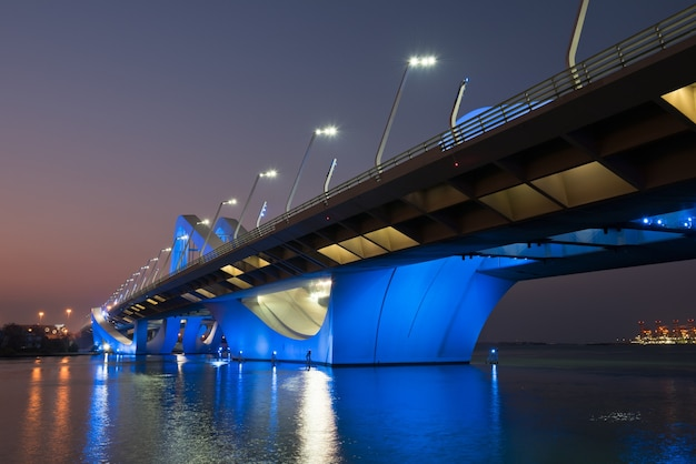 Sheikh zayed bridge, abu dhabi, verenigde arabische emiraten
