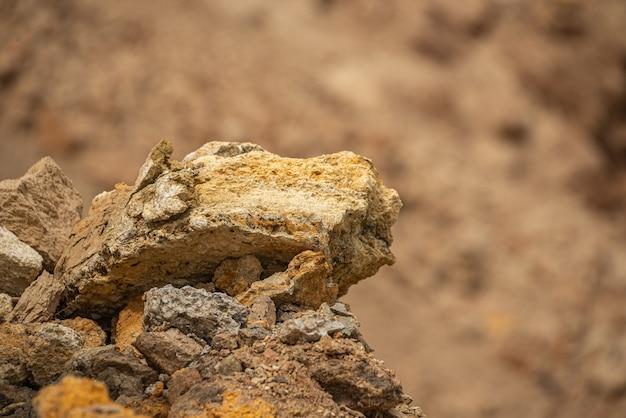 Shell-rotsen op de kust van odessa in de oekraïne