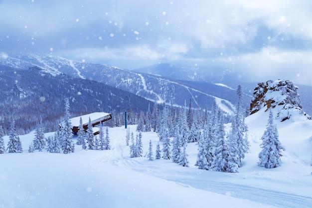 Sheregesh skigebied in rusland