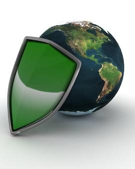 Shield en globe internetbescherming