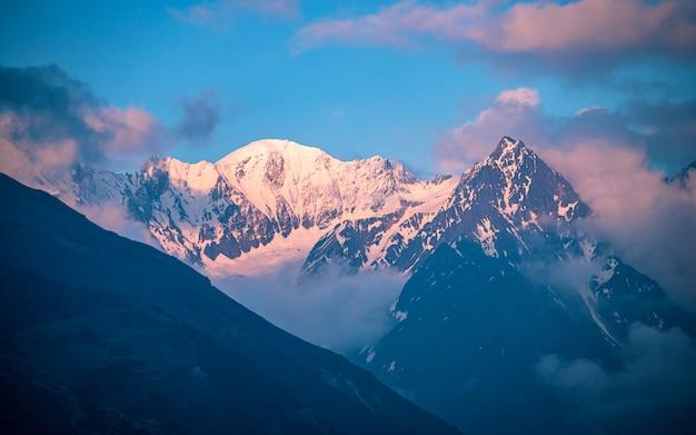 Shining mount ganesh range, gorkha, nepal.