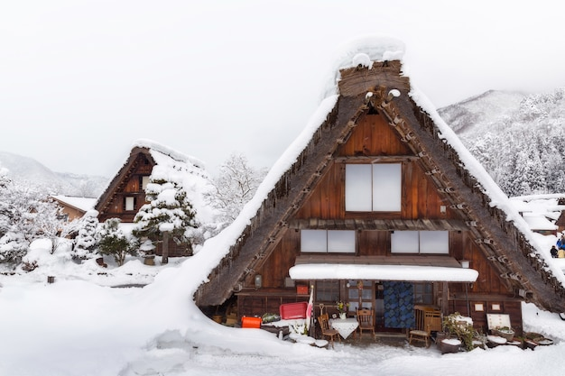 Shirakawa gaat dorp in japan